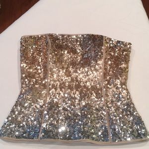 Gorgeous gold sequin top